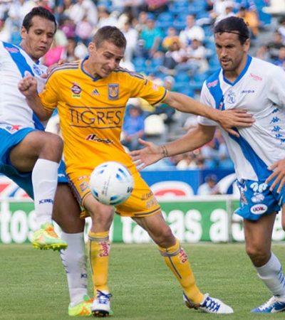Empata Puebla 1-1 con Tigres en el estadio Cuauhtémoc