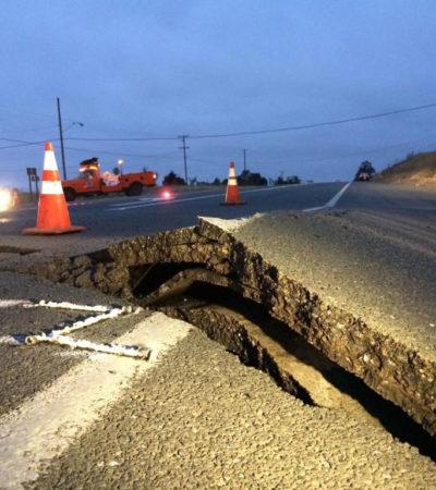 Suman al menos 87 heridos por sismo de 6.1 grados en el norte de California
