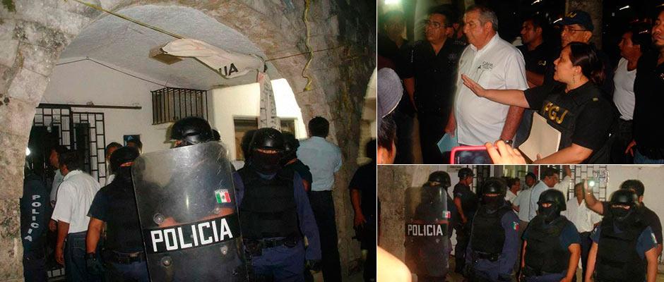 DESALOJO A LA MEDIANOCHE EN LA ZONA MAYA: Con policías antimotines, golpes y detenidos, recupera Gobierno oficinas de CAPA en FCP