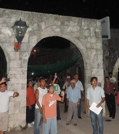 Consignan a 9 de los 12 detenidos en el desalojo de las oficinas de CAPA en Felipe Carrillo Puerto
