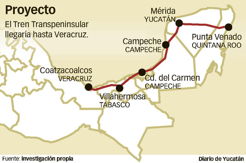 HACEN LA HISTORIA MÁS LAAARGA: Aseguran que proyecto del Tren Transpeninsular no está cancelado y que la ruta llegaría hasta Veracruz
