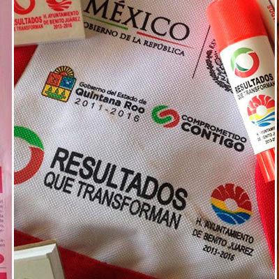 """""""TIRAN DINERO A LA BASURA"""": Presume Borge en su periódico 'La Razón' entrega de útiles escolares que no sirven a alumnos"""