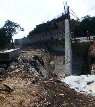 Bloquea ICA  a ejidos y rancherías con construcción de carretera El Tintal-Playa