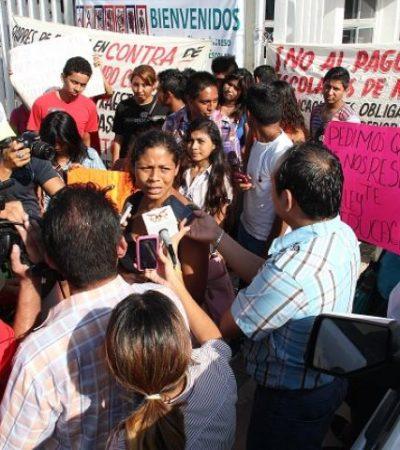 En rechazo a 'cuotas voluntarias' y alto costo de inscripción, estudiantes toman el Conalep de Chetumal