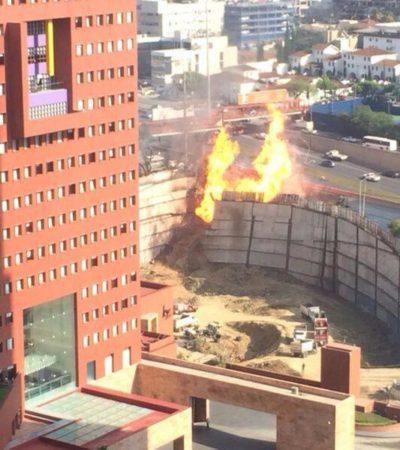 EXPLOSIÓN EN NL: Incendio provocado por tubería de gas obliga a evacuar a 2 mil personas