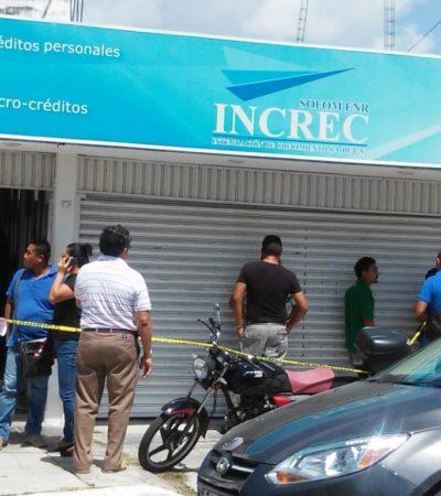 SIGUEN LOS ATRACOS EN CHETUMAL: Hombres armados roban medio millón de pesos de empresa de micro créditos