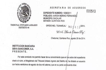 Por orden del Tribunal Unitario Agrario, embargan cuentas de Telmex por adeudo de 53 mdp a ejidatarios