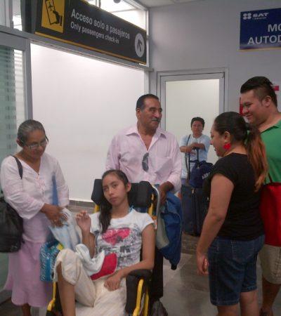 GRACIAS A LOS CHETUMALEÑOS: Trasladan a Sandy al DF para ser operada tras generosa colecta