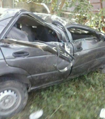 Muere policía de Tulum al salirse de la carretera