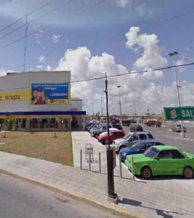 Asaltan a mano armada un Bancoppel en la Avenida Nichupté de Cancún