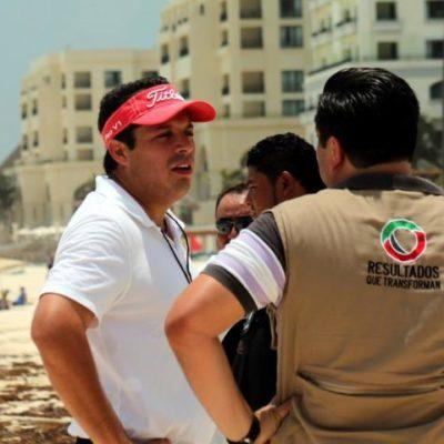 Aparatoso operativo contra el comercio irregular en playas de Cancún