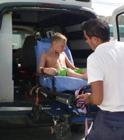 Pequeña mantarraya ataca a niño estadounidense en una playa de Isla Mujeres