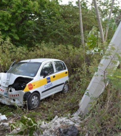 Muere en el hospital después de choque contra un poste en Cancún