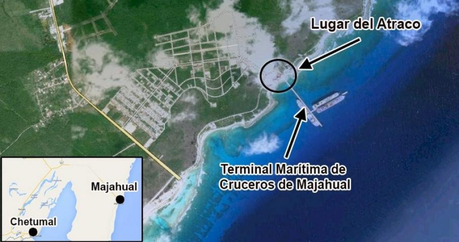 ATAQUE AL CORAZÓN DE LA COSTA MAYA: Irrumpe comando armado con fusiles de asalto en el muelle de Mahahual y roban 2 cajeros