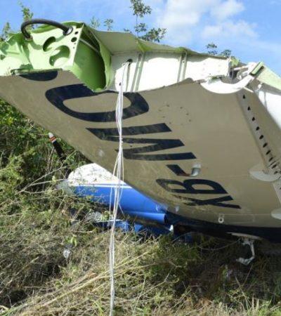 SUSTO EN XPUJIL: Se despista avioneta en pista de Campeche