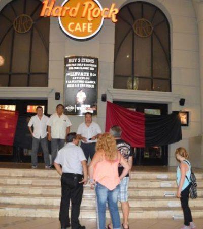 CIERRAN EL HARD ROCK DE CANCÚN: Por adeudo, embargan bienes del emblemático antro de la Zona Hotelera; empleados, en huelga