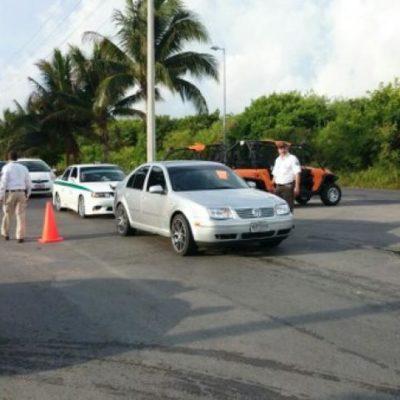 Aseguran a 37 extranjeros ilegales en retén en Punta Sam