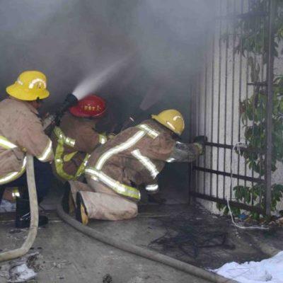 Consume incendio lavandería en zona turística de Playa del Carmen