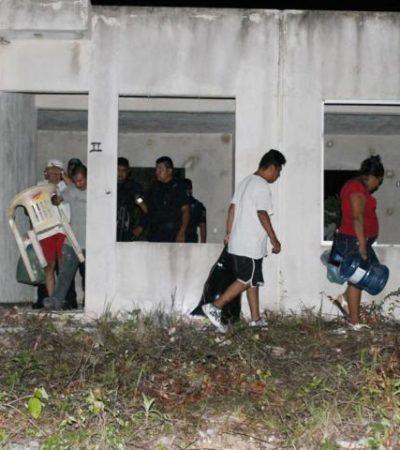 INVADEN CASAS DE 'IN HOUSE' Y LOS ECHAN: Frenan nuevo intento de ocupación ilegal de fraccionamiento abandonado en Playa