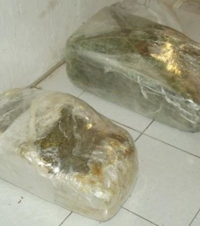 GOLPE CON SUERTE: Tras un reporte de asalto, decomisan más de 30 kilos de marihuana en Chetumal