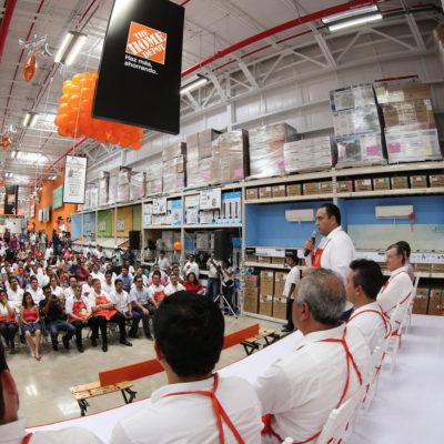 Con inversión de 250  mdp, abren tienda The Home Depot en Playa del Carmen