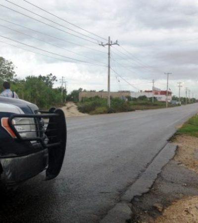Fuerte movilización policiaca por empleado que fingió 'levantón' en Cancún