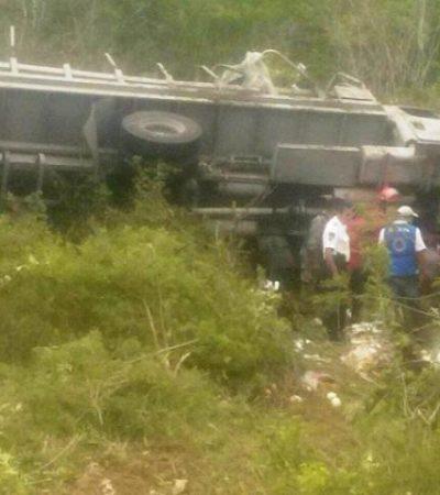 ACCIDENTE DE MARINOS: Seis lesionados al volcar unidad militar cerca de Leona Vicario