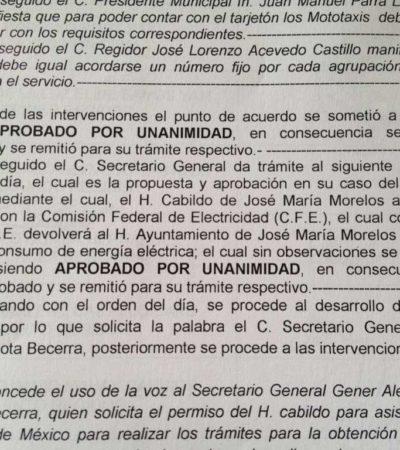 CONFIRMAN ESTOCADA POR LA ESPALDA: Revelan aprobación del polémico DAP por el Alcalde Juan Parra en sesión de Cabildo fuera del Palacio de JMM