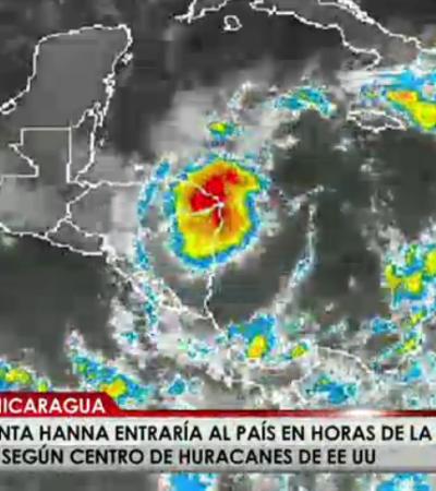 TORMENTA TROPICAL EN EL CARIBE: Se forma 'Hanna' casi en la costa y afecta a Nicaragua y Honduras