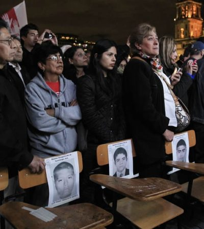 Se dice Peña dispuesto a reunirse con los padres de los 43 desaparecidos de Ayotzinapa