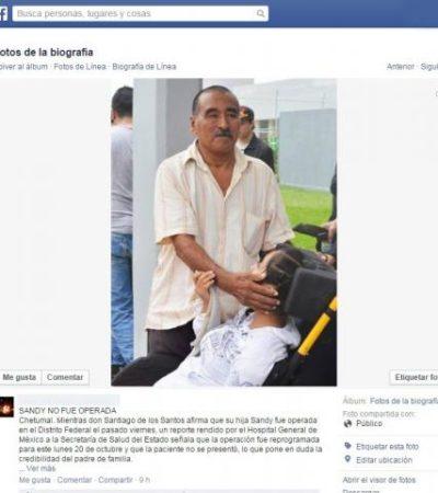 """""""AHORA RESULTA QUE LES SALIÓ LO GANDALLAS"""": Lamentan y critican en Chetumal que padres de 'Sandy' no la hayan operado después de altruismo ciudadano"""