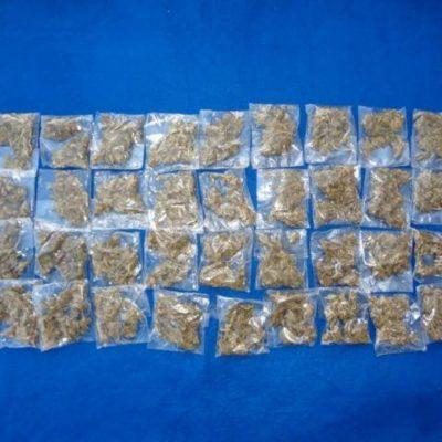Detienen a narcomenudista con 36 dosis de marihuana en la SM 66