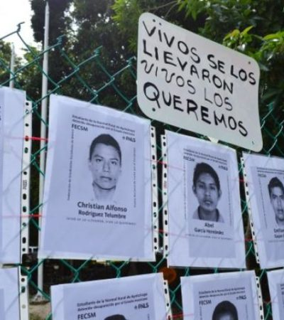 """""""NO LO PODEMOS DEJAR PASAR"""": Realizan 'paro informativo' en el Colegio de la Frontera Sur por normalistas de Ayotzinapa"""