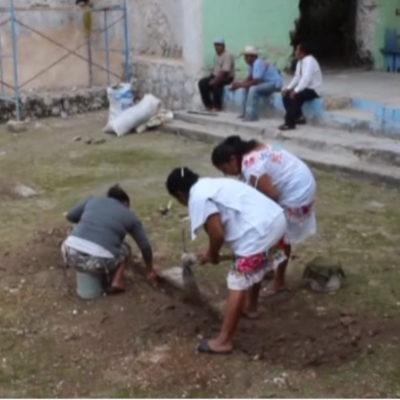 Hallan restos de osamenta humana enterrada en la iglesia de Sacala en JMM