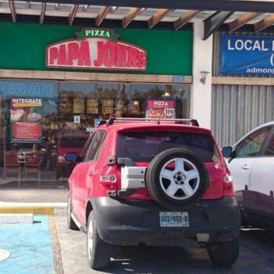 LE PEGAN A 'PAPA JOHNS': Asaltan otra pizzería en Cancún y se llevan $60 mil en efectivo