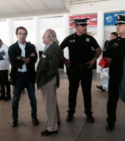 AZNAR EN CANCÚN: Llega ex Presidente de España para impartir conferencia en Quintana Roo
