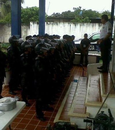 Reubican a policías municipales de OPB que no pasaron exámenes