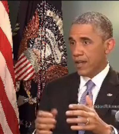 Ofrece Obama ayuda a México para aclarar el caso de los desaparecidos de Ayotzinapa