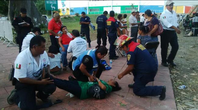 ATACAN ABEJAS EN EVENTO DE GOBERNADOR: Histeria y 20 desmayadas en informe de Manuel Velasco en Tapachula
