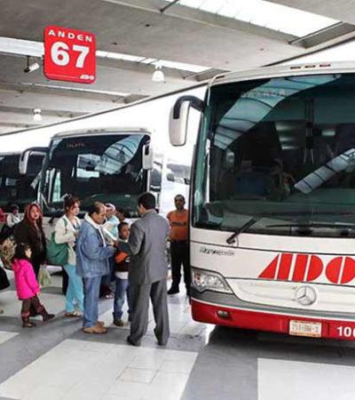 INSEGURIDAD EN CARRETERAS: Asaltan en Veracruz camión de ADO que salió de Puebla con destino a Cancún