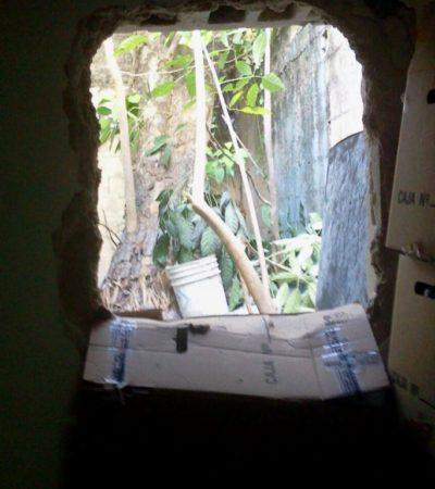 INVESTIGAN 'BOQUETAZO' A BANCO: Ladrones serían los mismos de últimos atracos en Cancún con este mismo sistema