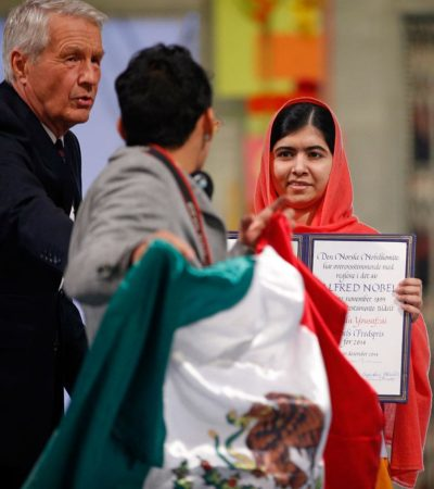 """MALALA SE PRONUNCIA SOBRE MÉXICO: """"Hay problemas… es importante alzar la voz"""", dice la Nobel de la Paz"""