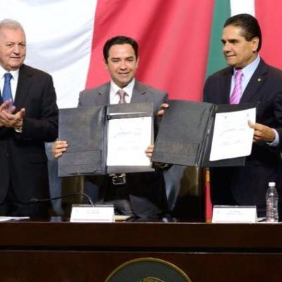 CONVENIO ENTRE CONGRESOS: Diputados locales de QR firman convenio con federales para profesionalizar trabajo legislativo