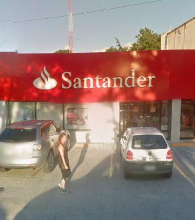 OTRO 'BOQUETAZO' A UN BANCO EN CANCÚN: Roban sucursal de Santander en la Avenida Tulum; tercer caso en 3 meses