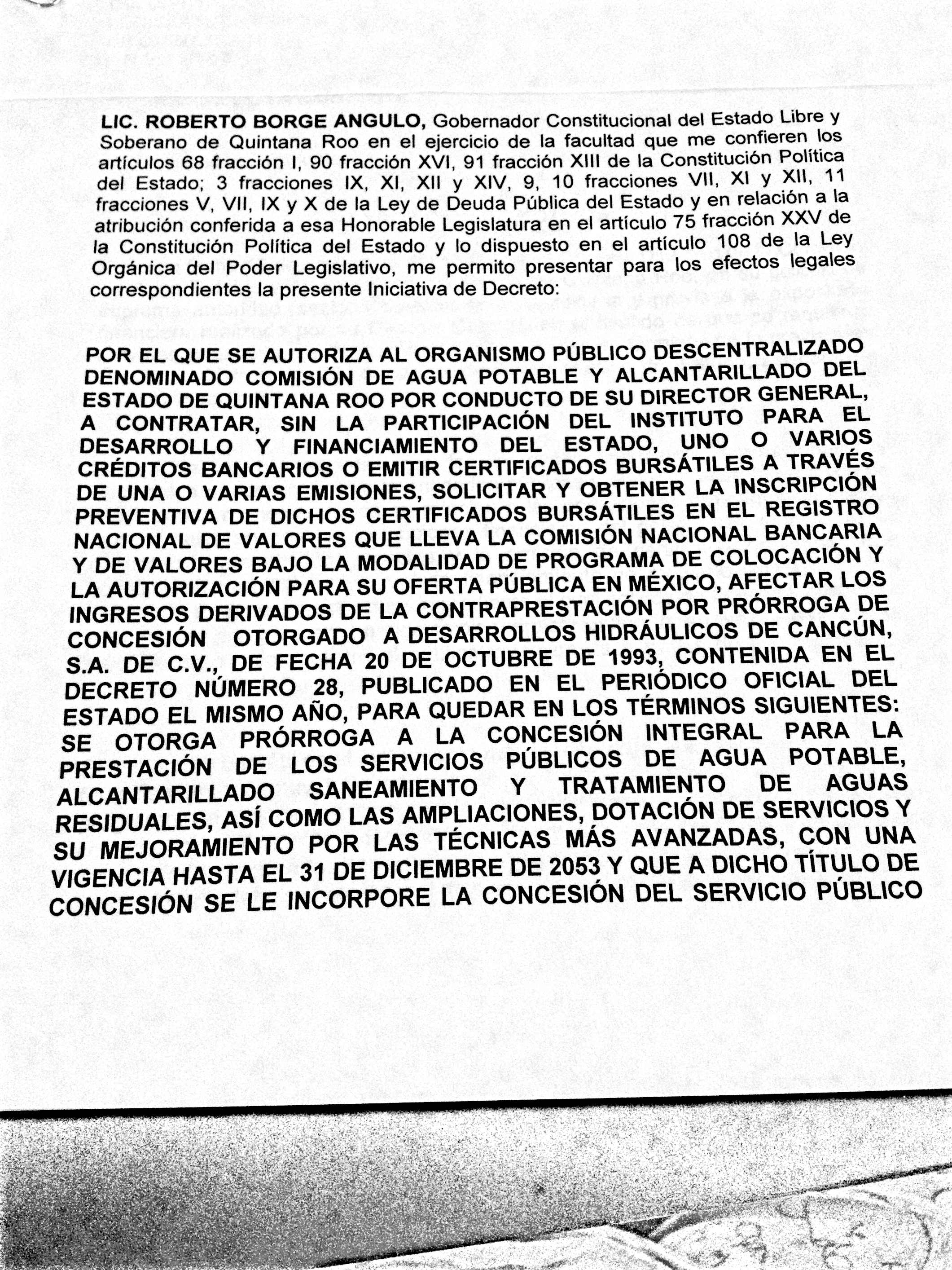 LE HINCAN EL DIENTE A CAPA: Tras entregar concesiones a Aguakán en Playa, Cancún e IM, Borge quiere crédito por 980 mdp a nombre del organismo