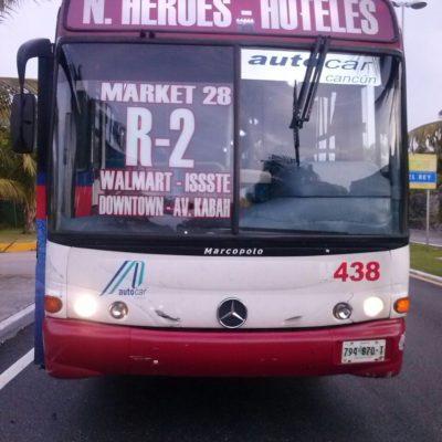 Fallece un hombre atropellado por camión del transporte público en la Zona Hotelera de Cancún