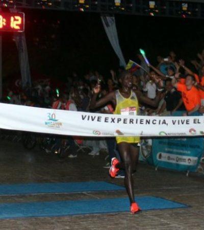 KENIA TRIUNFA EN EL CARIBE: Atletas del país africano vencen en el Maratón Internacional Cancún