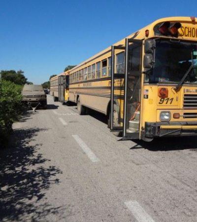 Tras trágico accidente, bloquean en Xbonil la carretera Escárcega-Chetumal para exigir pasos peatonales