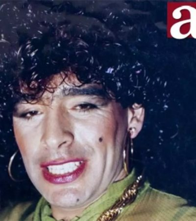 LA 'VIDA LOCA' DE MARADONA: Publican foto del astro argentino vestido de mujer en un reportaje sobre su vida privada