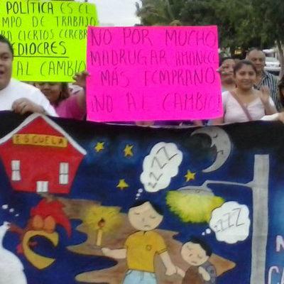 NUEVA PROTESTA CONTRA EL CAMBIO DE HORARIO: A una semana de que entre en vigor, piden en FCP se mantenga la actual zona horaria
